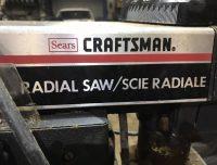 CRAFTSMAN RADIAL SAW 10 inch COLLECTORS ITEM
