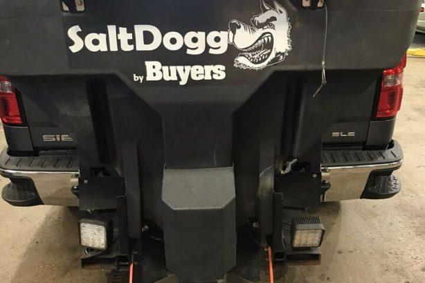Hitch mount sander / salter – cheap